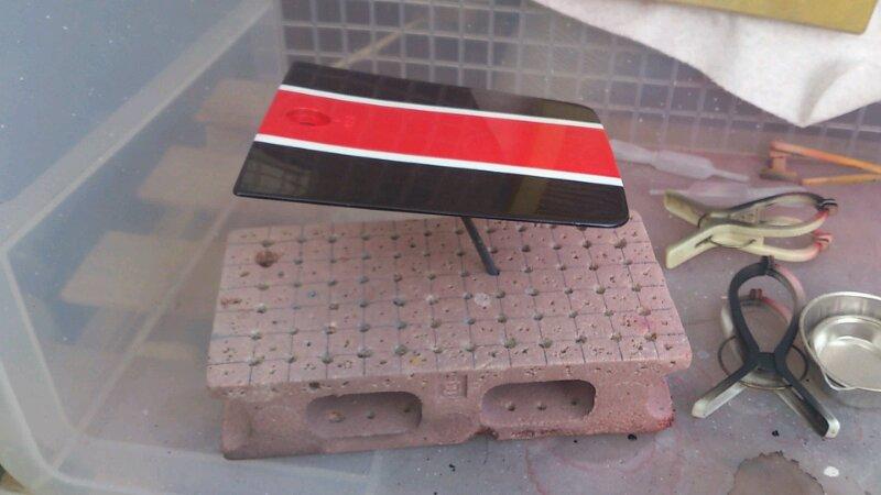 YSR50 ウレタンクリア塗装 乾燥なう
