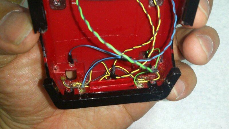 AE86 ミニッツ電飾 レッドバージョン フロント接着