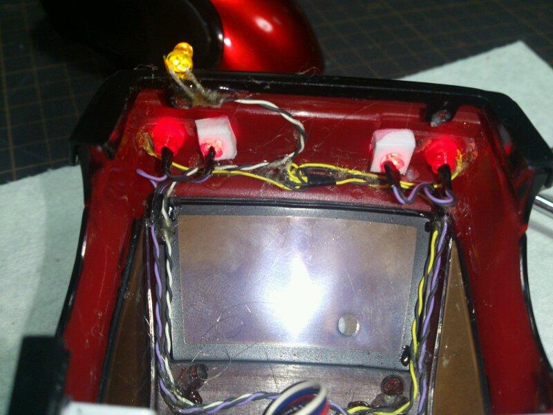 AE86 ミニッツ電飾 レッドバージョン 配線レイアウト リア