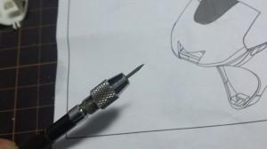 ミニッツモトレーサーオリジナル塗装:けがきツール