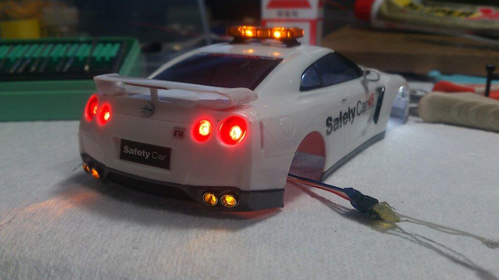 ミニッツ電飾職人 GT-R R35 スーパーGT セーフティーカー:完成